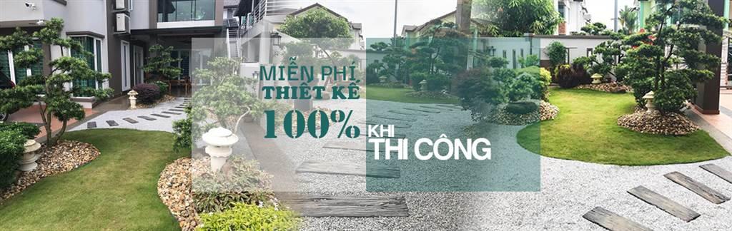 banner công ty thiết kế sân vườn đỉnh việt