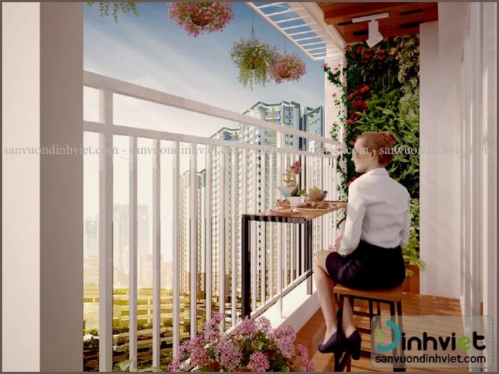Mẫu sân vườn ban công đẹp cho nhà chung cư