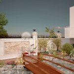 Mẫu thiết kế cải tạo sân vườn đẹp nhà biệt thự Anh Thanh