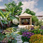 Thiết kế sân vườn biệt thự đẹp Củ Chi