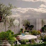 Mẫu thiết kế sân vườn hồ cá đẹp Chú Nghĩa- Lâm Đồng