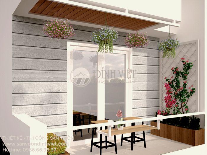 Thiết kế tiểu cảnh sân vườn ban công đẹp