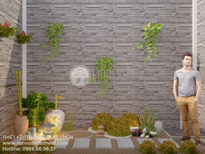 Tiểu cảnh đẹp sân vườn