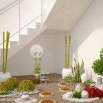 Thiết kế tiểu cảnh sân vườn cầu thang đẹp cho nhà phố Chị Hạnh
