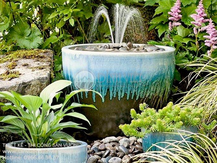 Trang trí sân vườn với đài phun nước đẹp
