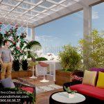 Hình ảnh thiết kế thi công sân vườn đẹp trên sân thượng nhà phố B.Tân