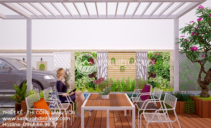 Biệt thự nhà vườn 2 tầng đẹp