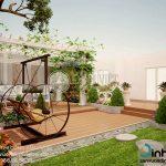 Sân vườn đẹp nhà phố chị Ngọc