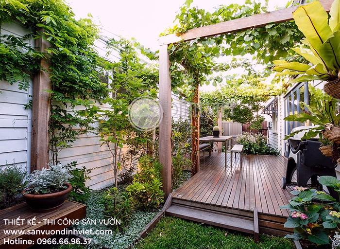 vườn trên sân thượng đẹp